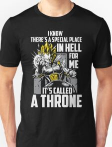 Super Saiyan Vegeta God Throne Shirt Unisex T-Shirt