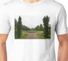 Peaceful Gray Symmetry - a Rainy Day in Regents Park, London Unisex T-Shirt