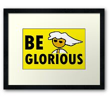 Be Glorious Steam PC Master Race Geek Framed Print
