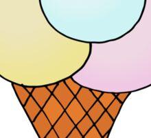 Ice-cream with skier Sticker