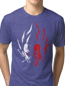 Super Saiyan Vegeta Haft Face Shirt Tri-blend T-Shirt