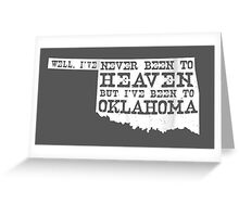 Oklahoma Heaven - dark Greeting Card