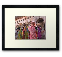 Indian women at work, Orchha, India  Framed Print