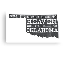 Oklahoma Heaven - gray Canvas Print
