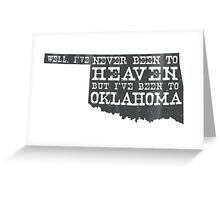 Oklahoma Heaven - gray Greeting Card