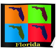 Colorful Florida State Pop Art Map Poster