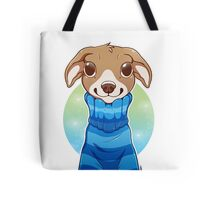 Sweater Weather Pup - Blue Tote Bag