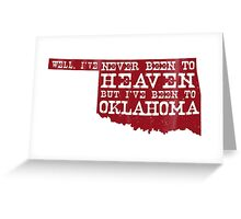 Oklahoma Heaven - Red Greeting Card