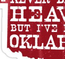 Oklahoma Heaven - Red Sticker