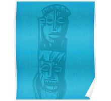 Tiki Gods - Blue Poster