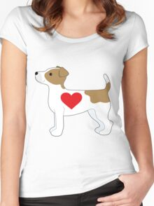 Jack Russell Terrier Women's Fitted Scoop T-Shirt