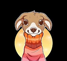 Sweater Weather Pup - Red by etuix