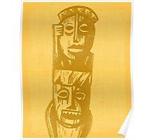 Tiki Gods - Yellow Poster