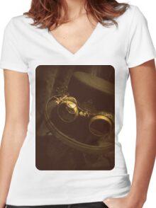 Steampunk Gentlemen's Hat 1.0 Women's Fitted V-Neck T-Shirt