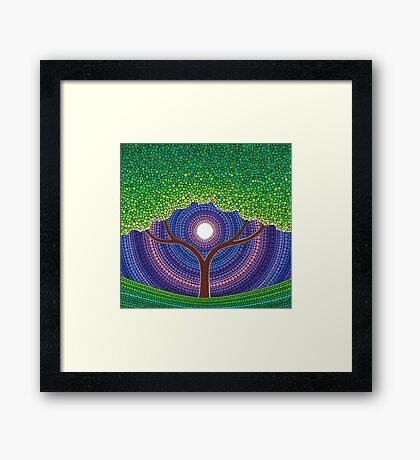 Happy Tree of Life Framed Print