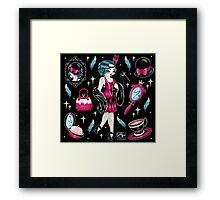 Flapper Girl Flash Framed Print