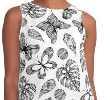 Tropical party. Contrast Tank