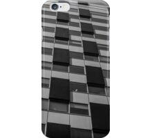 Rectangles abstract in black and white iPhone Case/Skin