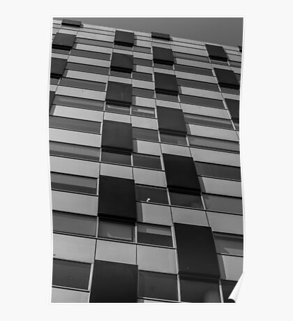 Rectangles abstract in black and white Poster