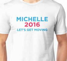 Michelle 2016 Blue Unisex T-Shirt