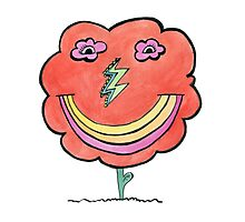 Flower Lightning Smile Photographic Print