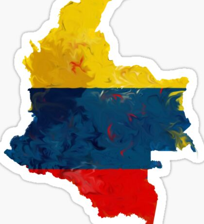 Colombia Paint Blur  Sticker