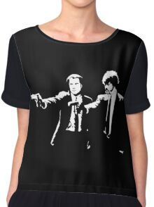 John and Samuel with the gun says hands up Pulp Chiffon Top