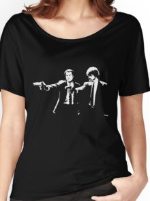 John and Samuel with the gun says hands up Pulp Women's Relaxed Fit T-Shirt