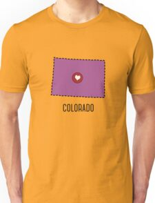 Colorado State Heart Unisex T-Shirt