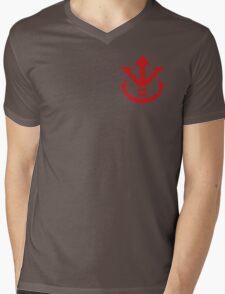 Super Saiya Vegeta Crest Shirt Mens V-Neck T-Shirt