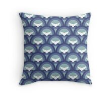 Happy Whales Throw Pillow