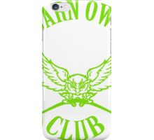 Barn Owl Barbell Club Green iPhone Case/Skin