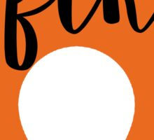 FTK Flame--Clemson University Sticker