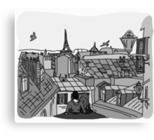 Paris, black and white Canvas Print