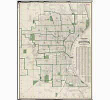 Vintage Map of Milwaukee Wisconsin (1909) Unisex T-Shirt