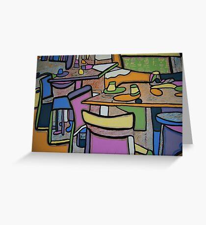 Urban Culture - Cafe Life Greeting Card