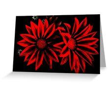 Red&Black Flowers Greeting Card
