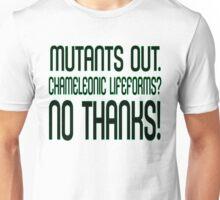 MUTANTS OUT. Unisex T-Shirt