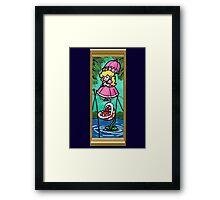 Mario Meets the Mansion Framed Print