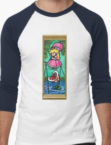 Mario Meets the Mansion Men's Baseball ¾ T-Shirt