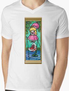 Mario Meets the Mansion Mens V-Neck T-Shirt