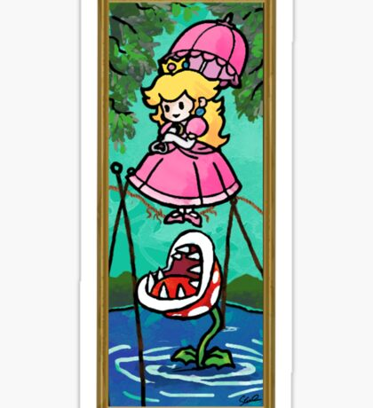 Mario Meets the Mansion Sticker