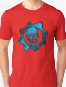 Blue skull gear Unisex T-Shirt