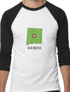 New Mexico State Heart Men's Baseball ¾ T-Shirt