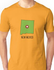 New Mexico State Heart Unisex T-Shirt