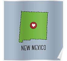 New Mexico State Heart Poster