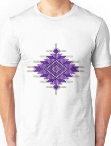 Purple Native American-Style Sunburst Unisex T-Shirt