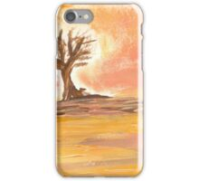 Warm Desert Landscape iPhone Case/Skin