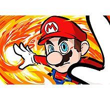 Mario   Fireball Photographic Print