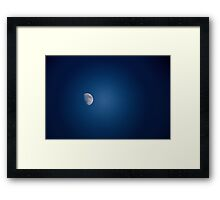 Blue Sky Moon Framed Print